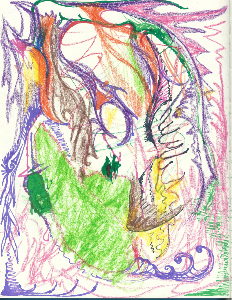 Pastel and marker experiment collaboration with Rodrick by Jadis