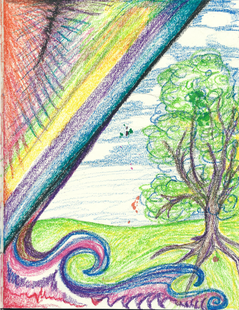 After the storm [a bright pastel experiment] by Jadis