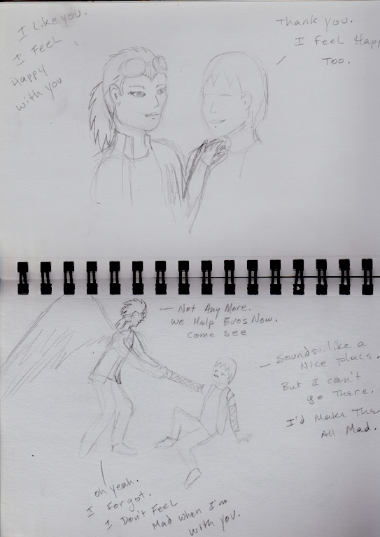 Reva and Alaster cartoon page 6 and 5 by Jadis