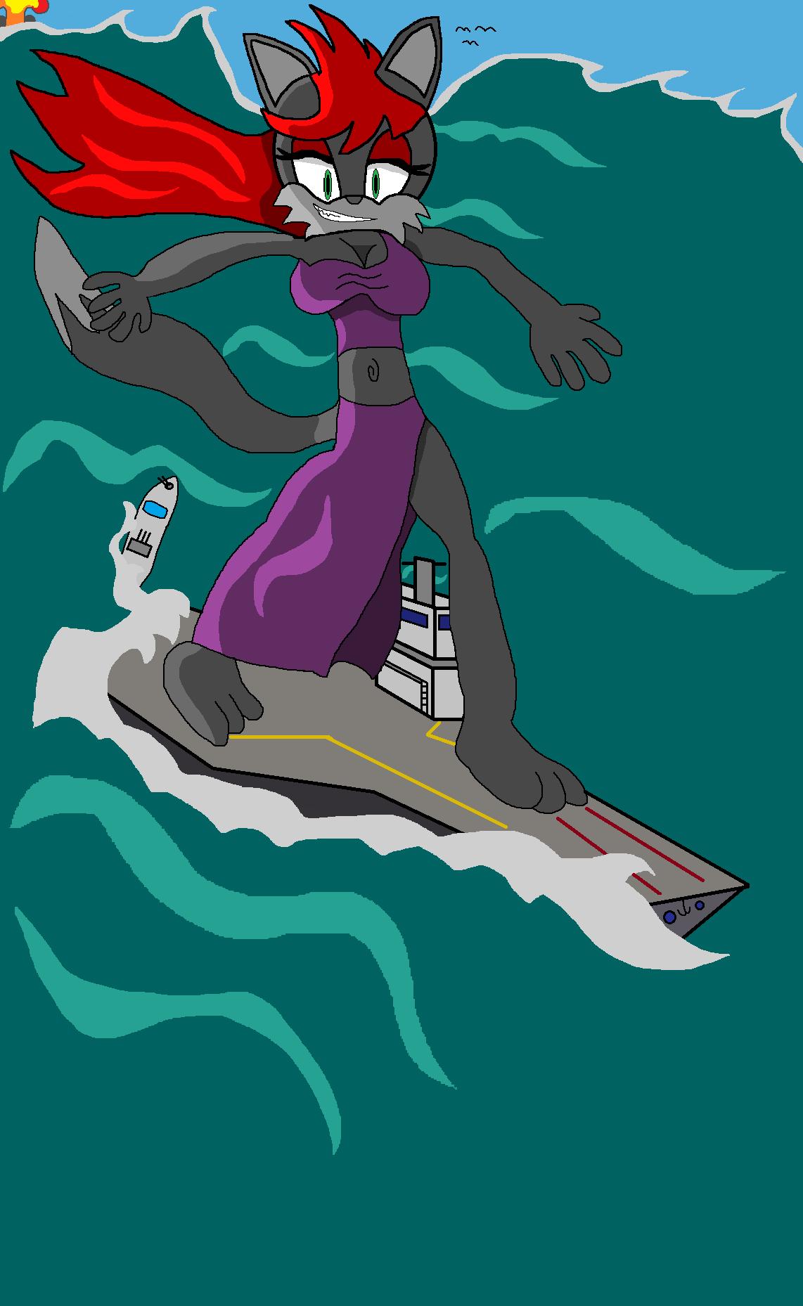 Scylla Super-sized Surfin by Jaredthefox92
