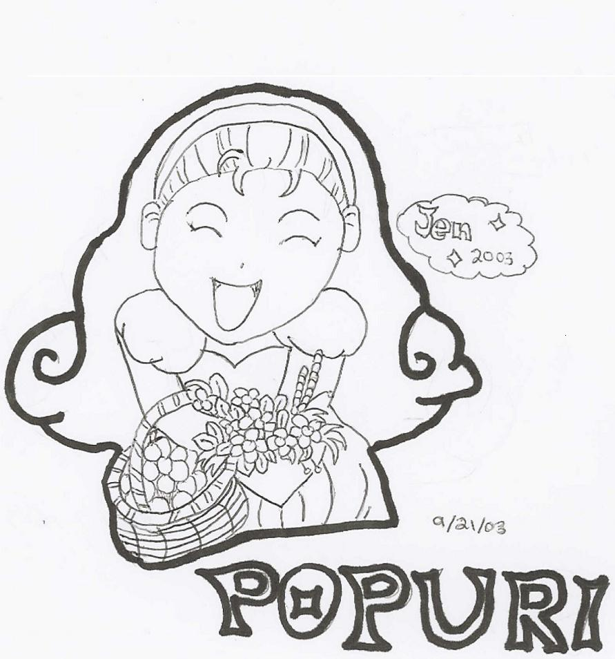 HM- Happy Popuri! (B&W) by Jay_Bird