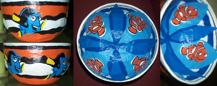 Finding Nemo paper mache bowl by JennStrummer