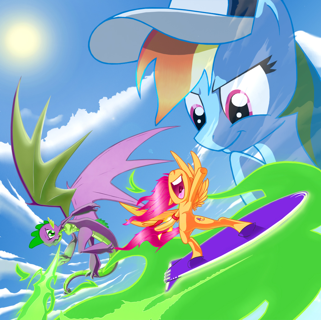 My Little Pony Our Time To Fly With Spike Scootaloo And Rainbow Dash By Jennerdarkclaw Fanart Central Check out inspiring examples of scootaloo_flies artwork on deviantart, and get inspired by our community of talented artists. fanart central