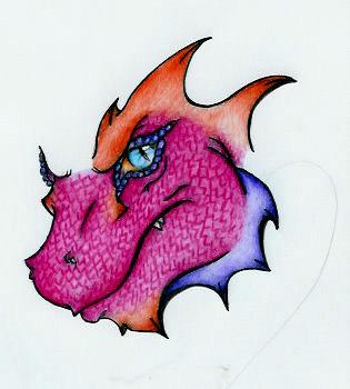 Dragon tattoo design (unfinished) by JessicaThomas1992