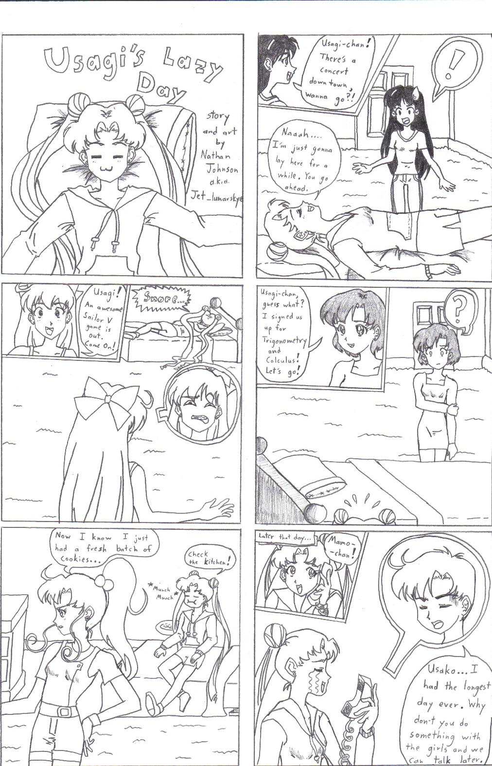 Usagi's Lazy Day Mini-manga by Jet_lunarskye