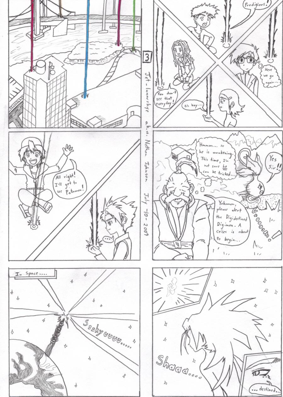 Digimon: Virtual Spawn manga page 3 by Jet_lunarskye