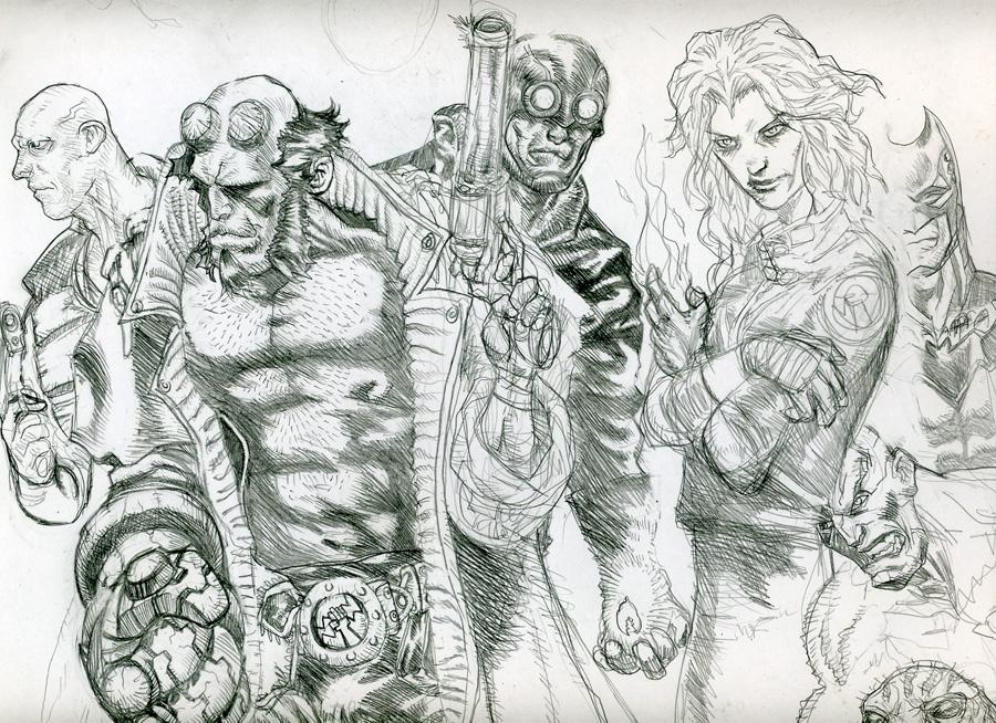 BPRD sketch by John