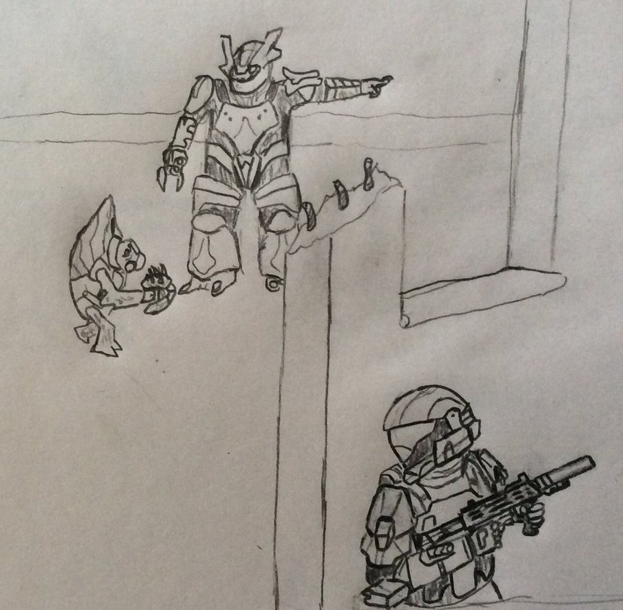 ODST waiting for the right moment by Justinnator6