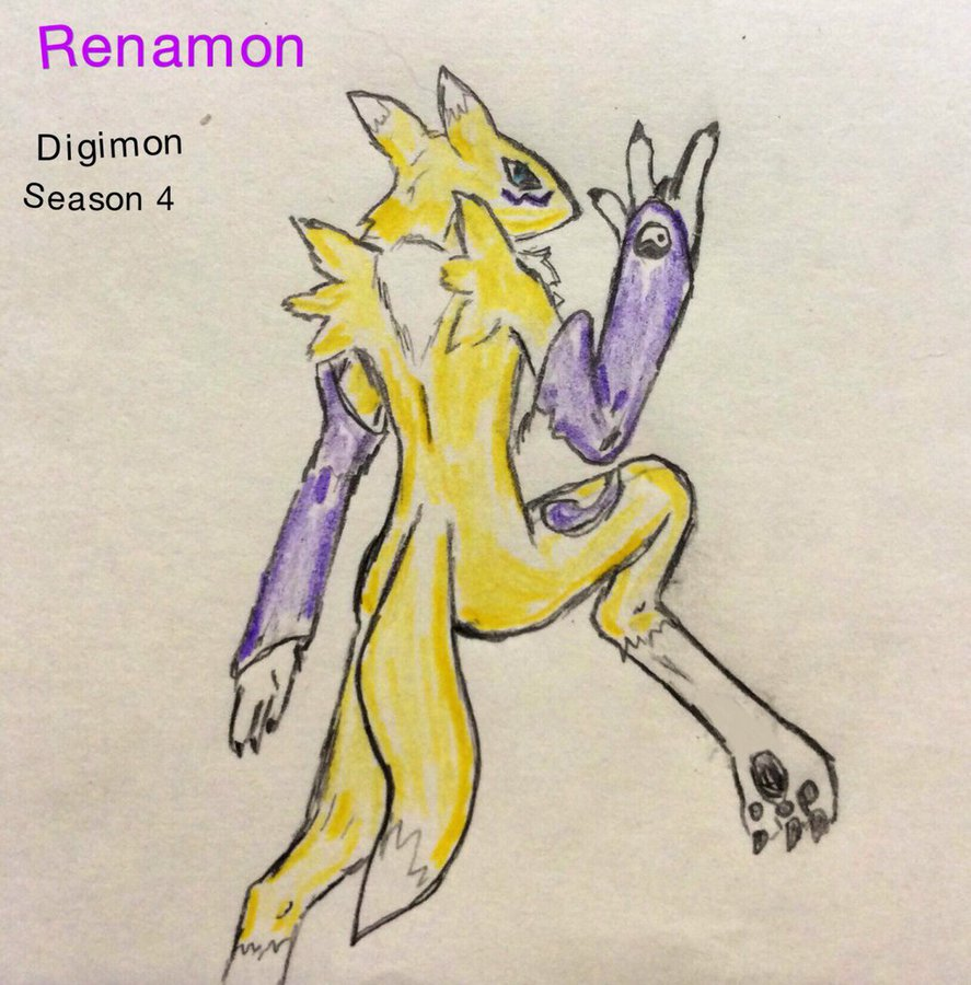 Renamon leg up on the competition by Justinnator6