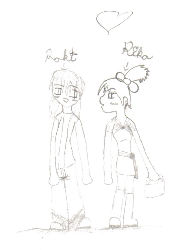 Roki&Rika (Human) by jamacainprincess
