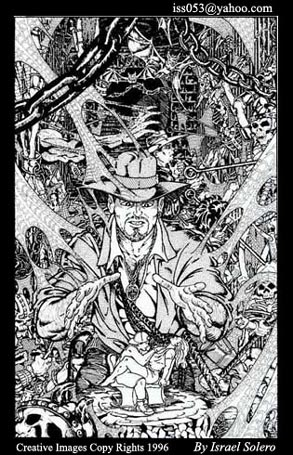 alpha: Indiana Jones cover scenario inked by jira