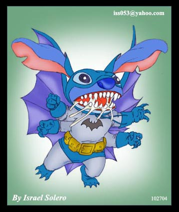 alpha: Lilo/Stitch's Bat-Stitch by jira