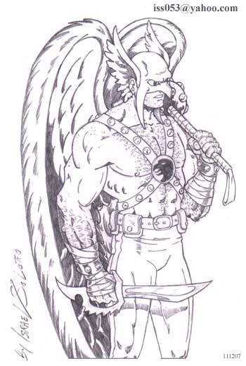alpha: Hawkman Warrior (pencil) by jira