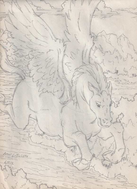 alpha: Pegasus not really (sketch) by jira