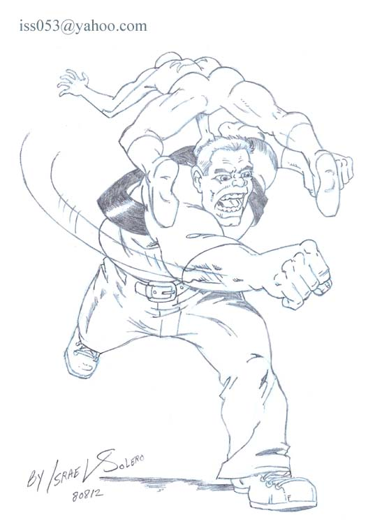 alpha: The Enforcers' Ox vs. Spider-man (pencil) by jira