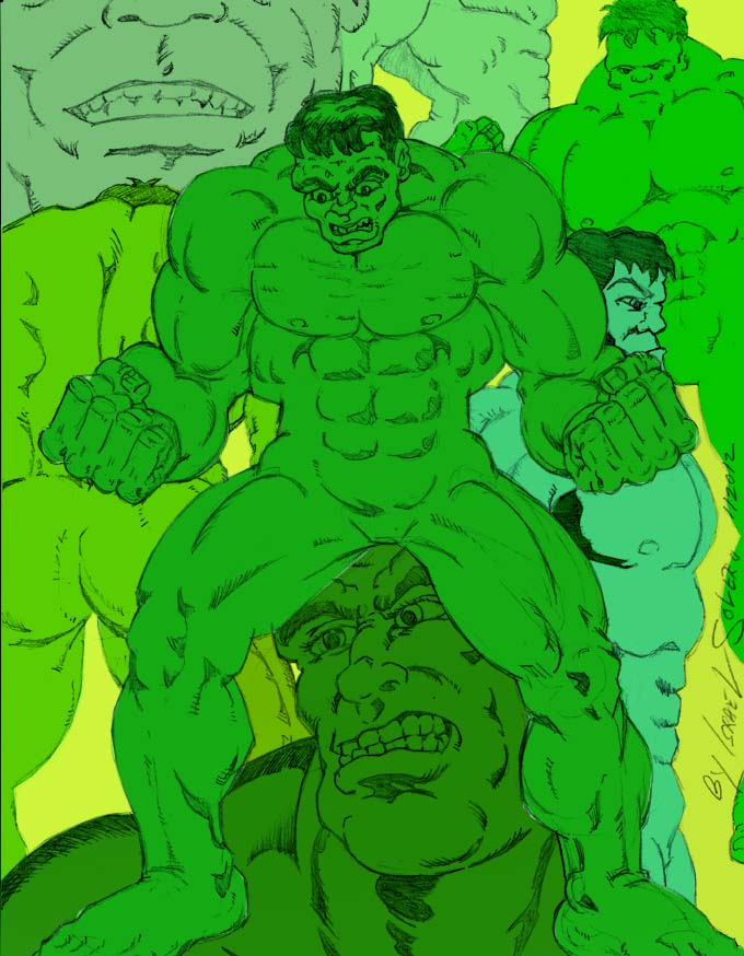 alpha: Hulk doodle sketches by jira