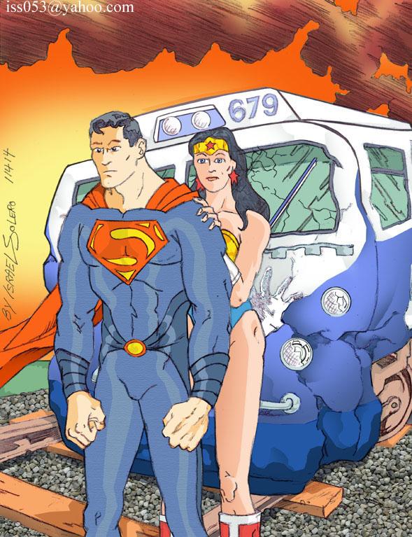 Superman/Wonder woman; Catch that Train by jira