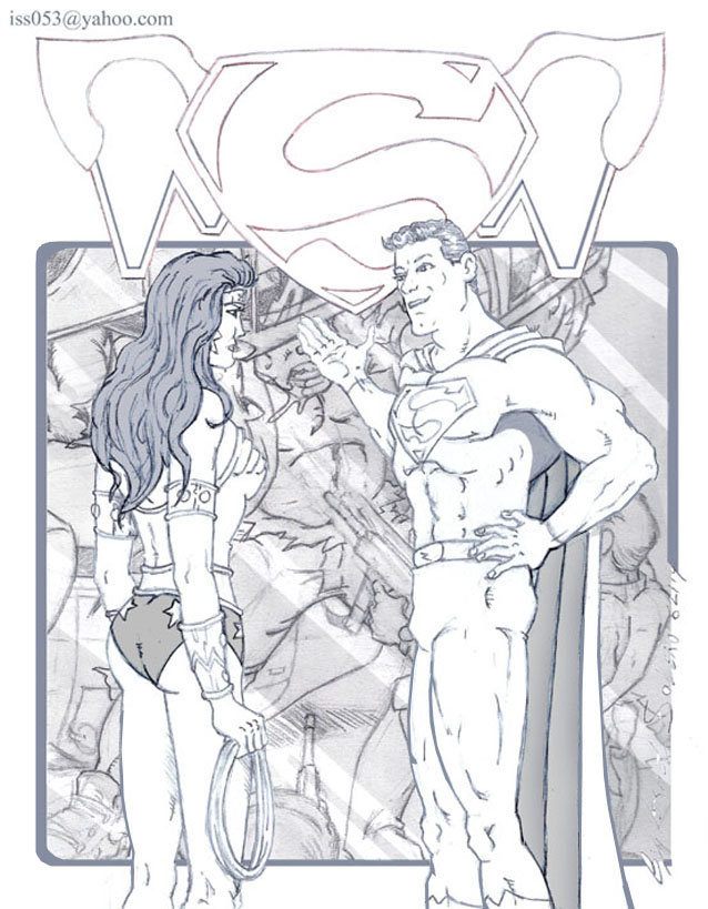 Wonder Woman & Superman by jira