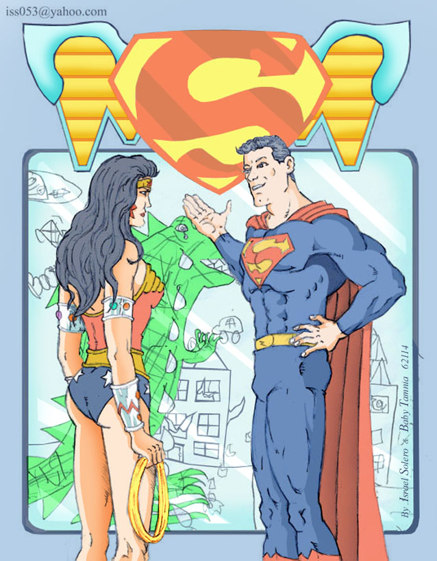 Wonder Woman & Superman by monitor by jira