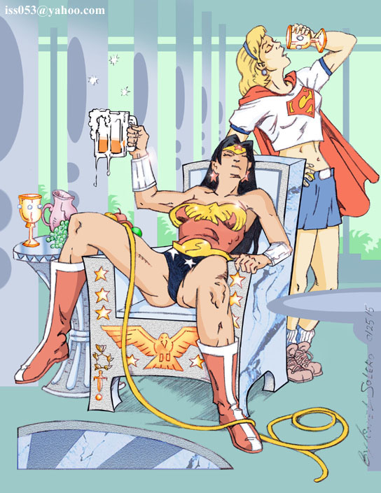 ONE For The Road: Wonder Woman & Supergirl (Clr) by jira