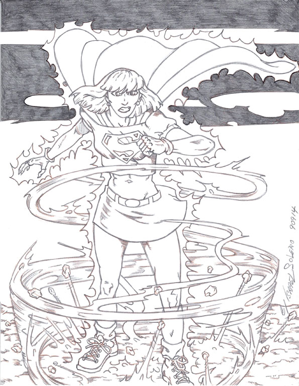 Supergirl Facing the Storm: Prelim by jira