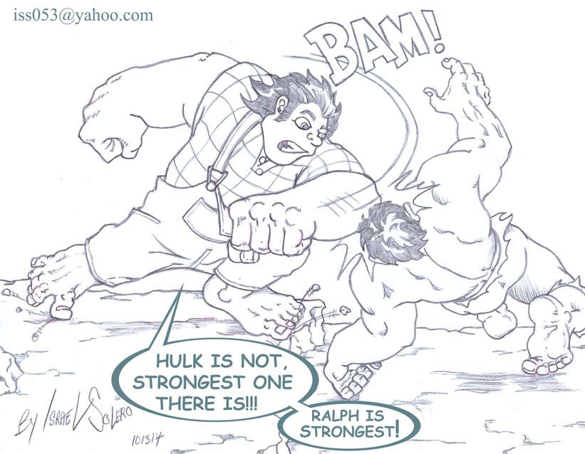 Wreck it Ralph vs. Hulk (prelim) by jira