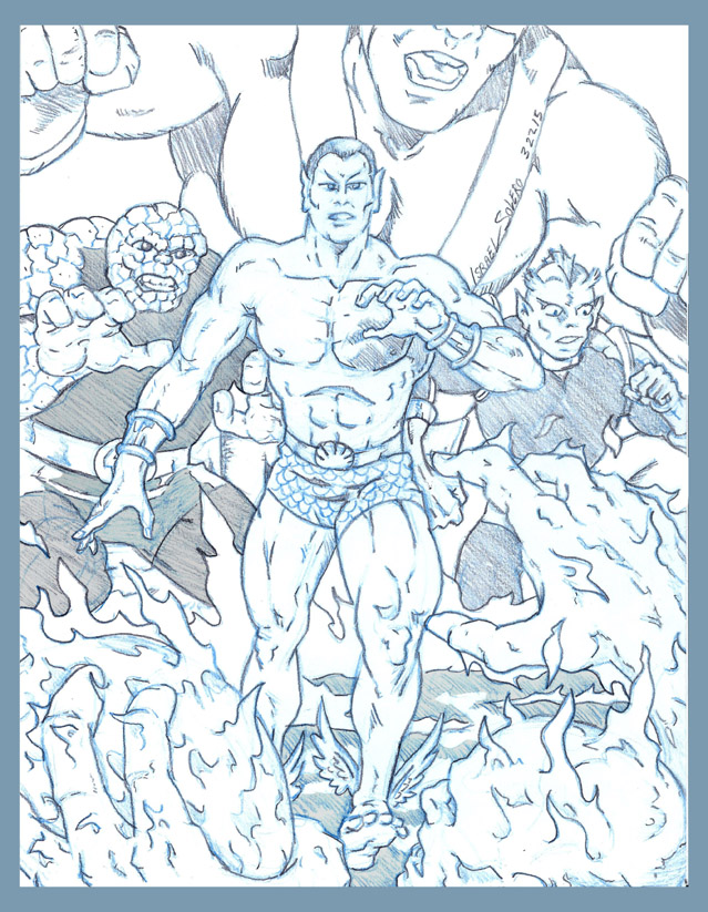 Sub-Mariner with The Thing, Giant Man & Triton vs, The Human Torch by jira