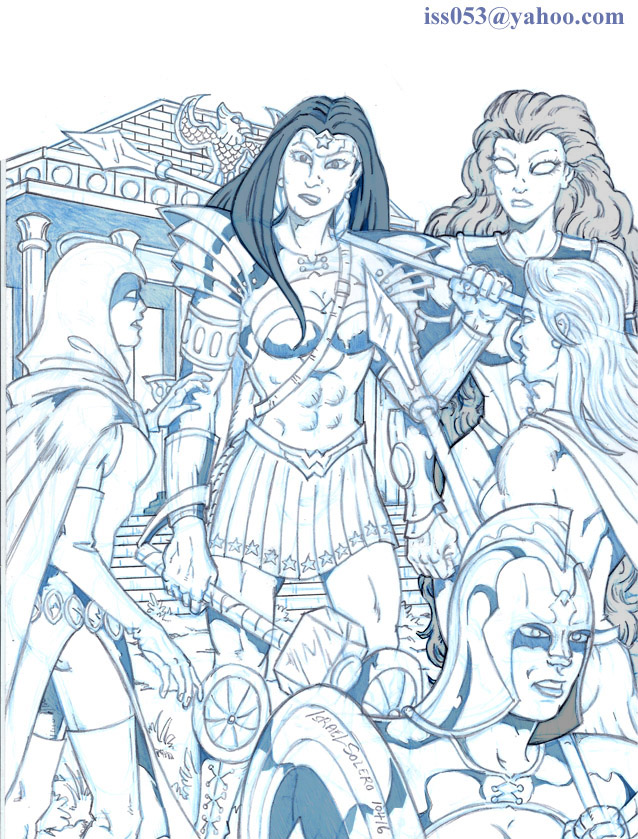 Top Echelon: Wonder Woman, Supergirl, Raven & Starfire by jira
