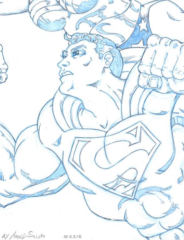 Alpha: Suerman and Wonder Woman by jira