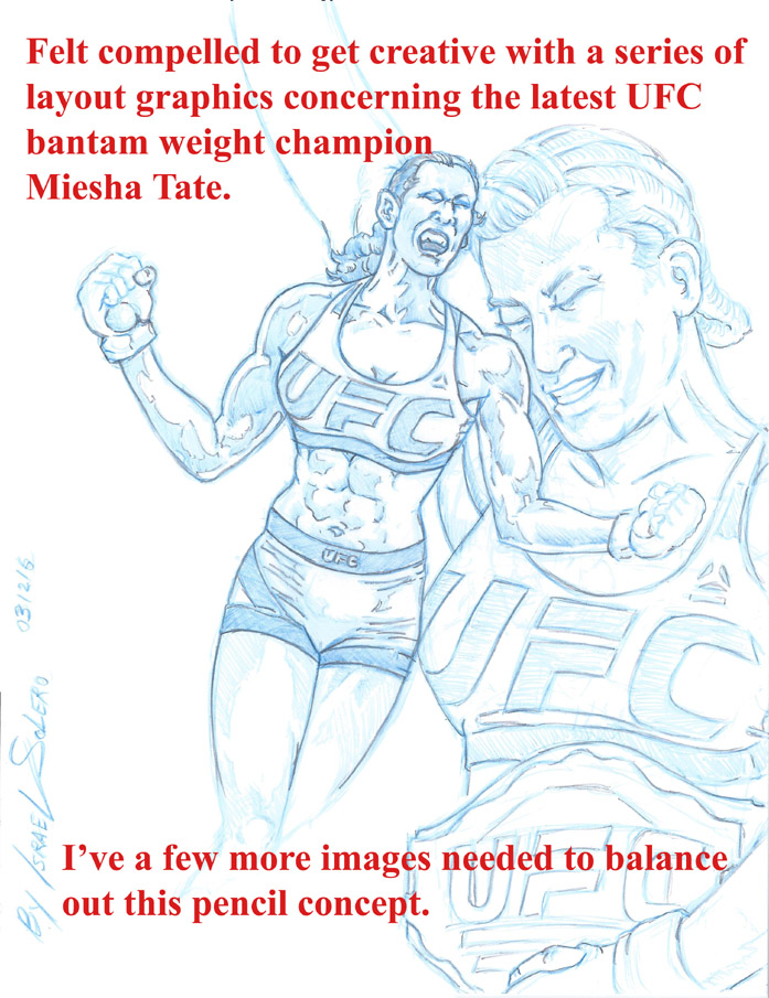 Latest UFC Champion Miesha Tate (pencil) by jira
