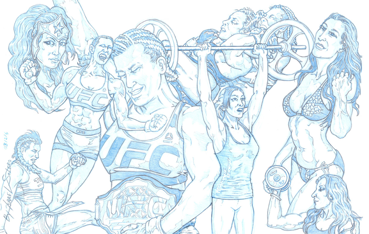 MIESHA TATE: UFC's Latest Wonder Woman (Splash Pg) by jira