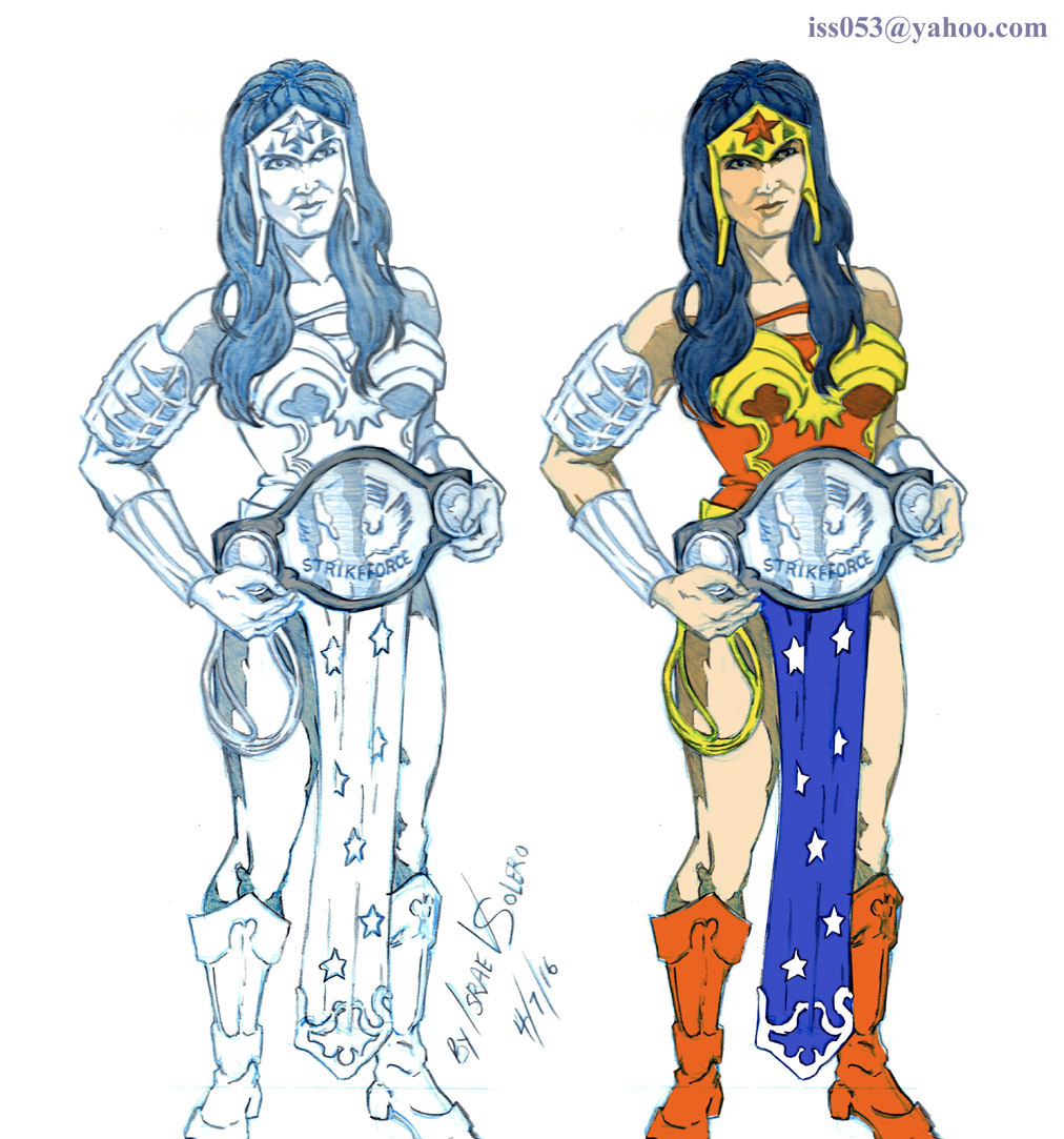 UFC Champion Miesha Tate as Wonder Woman (prelim) by jira