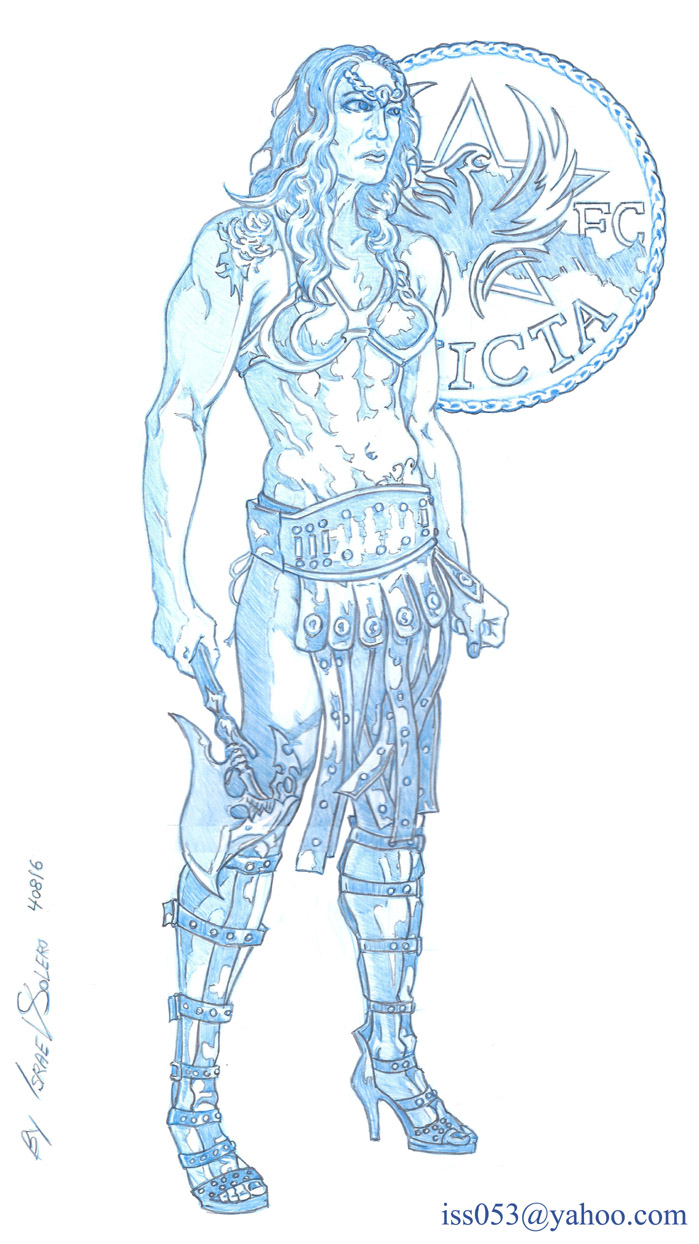 "CHRIS ""CYBORG"" AMAZON MMA WARRIOR CHAMPION (pencil) by jira"