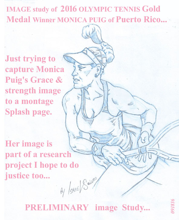 Olympic Gold Medalist: MONICA PUIG (study) by jira