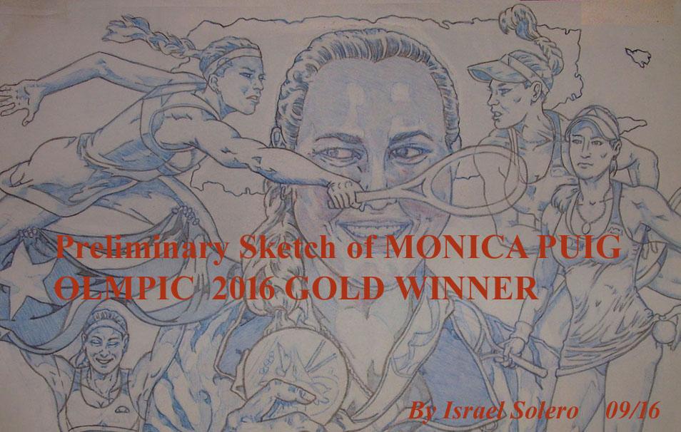 Pt. 2 Monica Puig; Olympic Gold Winner (Study) by jira