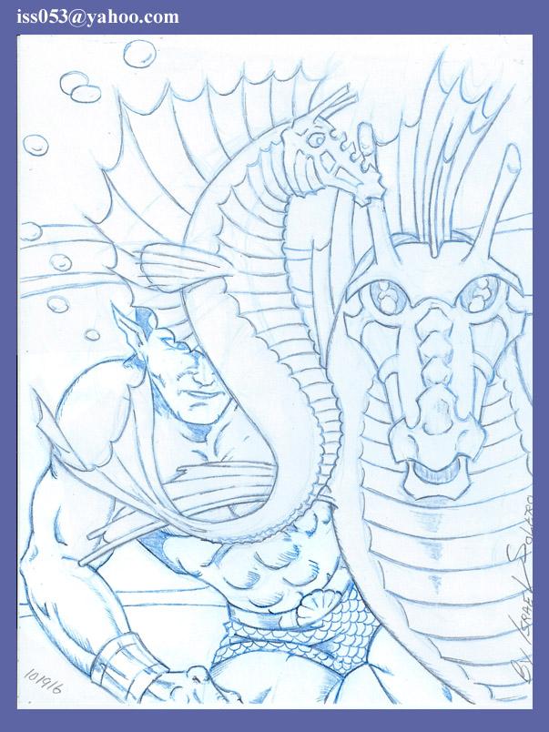 Sub-Mariner aka Prince Namor (pencil) by jira