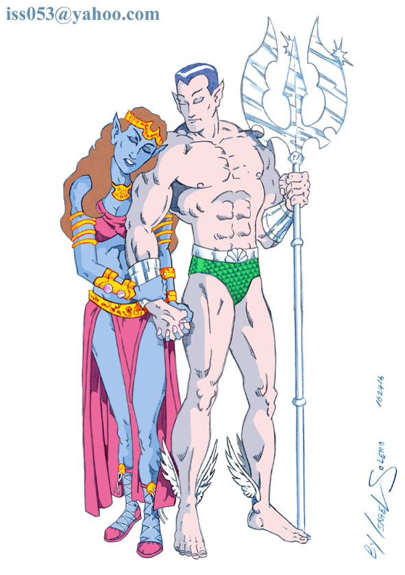 LADY DORMA & Her Undersea Lord The SUB-MARINER (clr) by jira