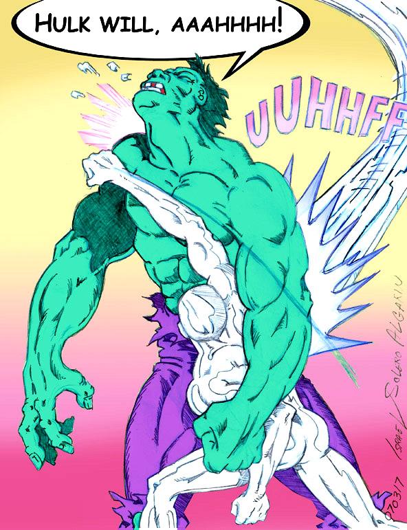Silver Surfer Battles Hulk (prelim) by jira