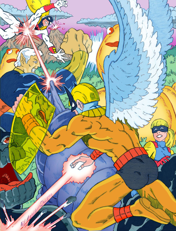 Hana Barbera: Bird Man, Meteor Man and Space Ghost vs. Herculoids by jira