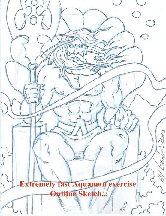 AQUAMAN (fast drawing) by jira