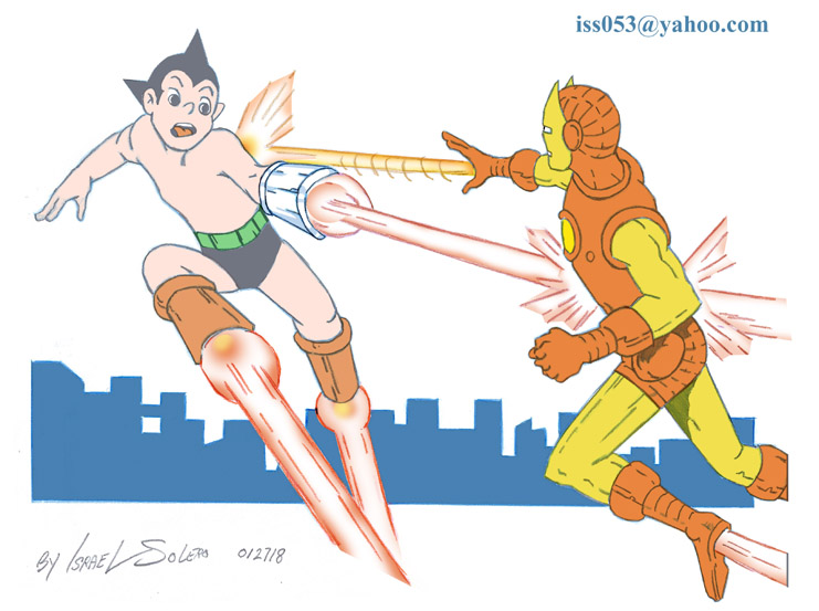 ASTRO BOY vs IRON MAN (60's Retro) by jira