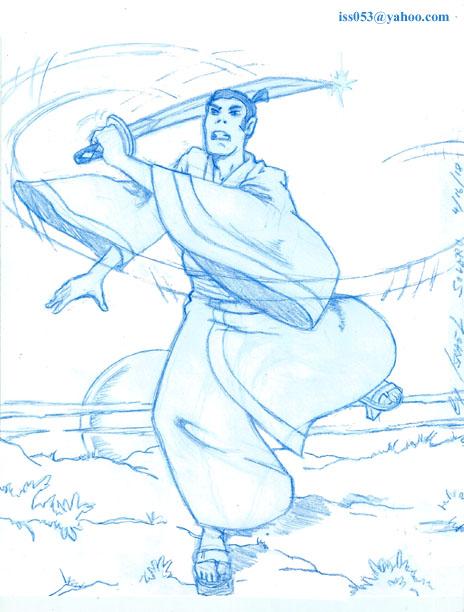 SAMURAI JACK (Quick Pencil) by jira