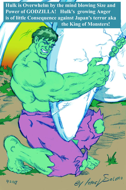 Hulk vs. Godzilla (prelim) by jira