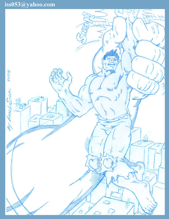 JAPAN: ULTRA-MAN vs. HULK (pencil) by jira