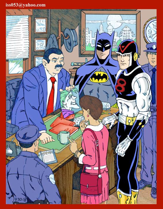 8th Man & Batman Investigate (clr) by jira