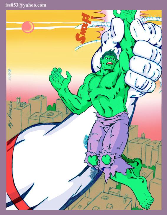 Ultra Man vs. Hulk (clr) by jira