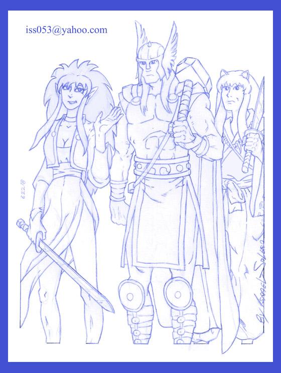 RYOKO, THOR & INUYASHA (prelim) by jira