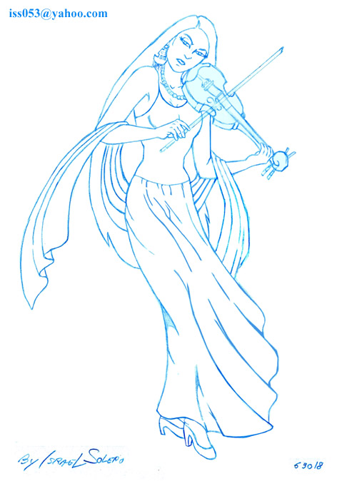 Enchanted Violinist (prelim) by jira