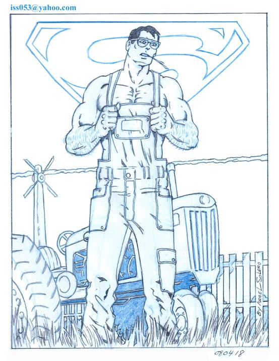 SUPERMAN as Clark Kent (pencil) by jira