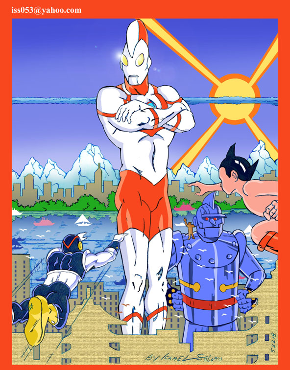 Japanese Icons: 8th Man, Astro Boy, Ultraman and Gigantor by jira